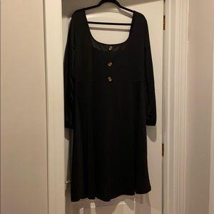 Black off the shoulder dress w/ 3 buttons